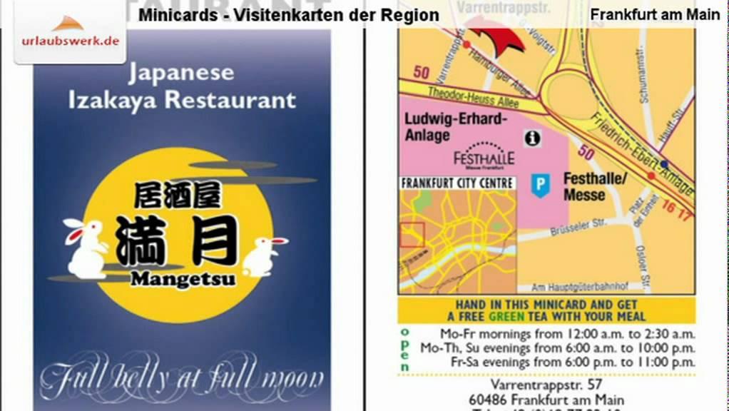 Minicards Visitenkarten Der Region Frankfurt Am Main Rhein Main Region Deutschland