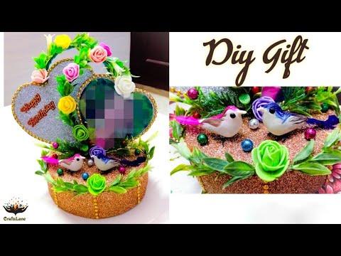 Happy Birthday Gift Showpiece | DIY Heart Shaped Photo Frame Showpiece | CraftsLane