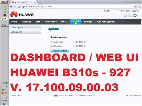 Dashboard web ui home router huawei b310