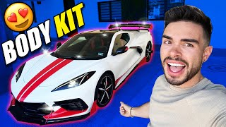 CAMBIO RADICAL A MI CORVETTE C8 : BODY KIT RACING 😱