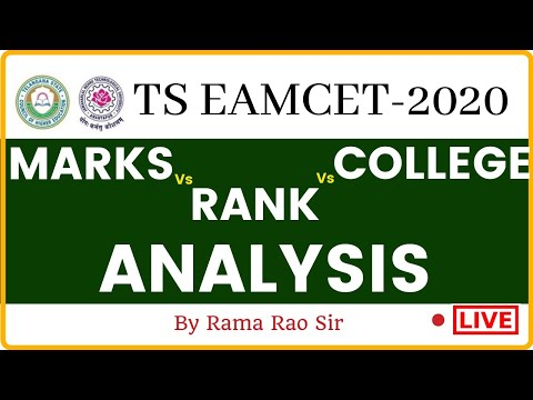 TS EAMCET-2020 | MARKS Vs RANK Vs COLLEGE ANALYSIS BY RAMARAO SIR | ROOTS ACADEMY