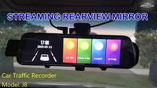 Joycar J8 Demo Video Streaming Rearview  Mirror
