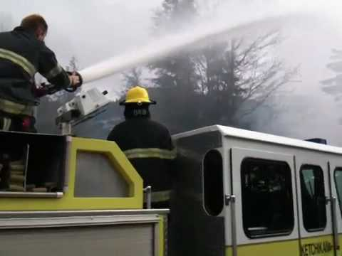 Deck Gun tree fire