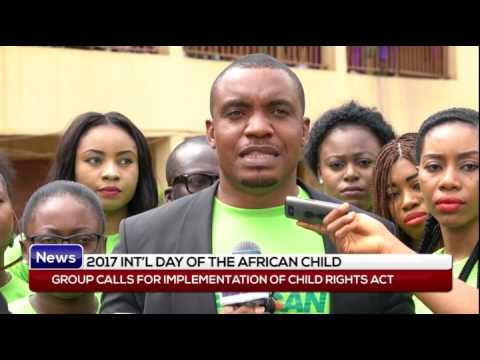 2017 INT'L DAY OF THE AFRICAN CHILD: group calls for implementation of child rights act