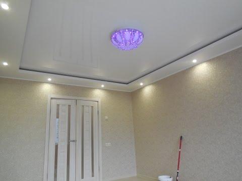 Комбинируем потолки из гипсокартона с натяжным потолком