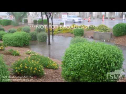 08-03-2017 Chandler, AZ Severe Thunderstorm & Monsoon Timelapse and Flooding