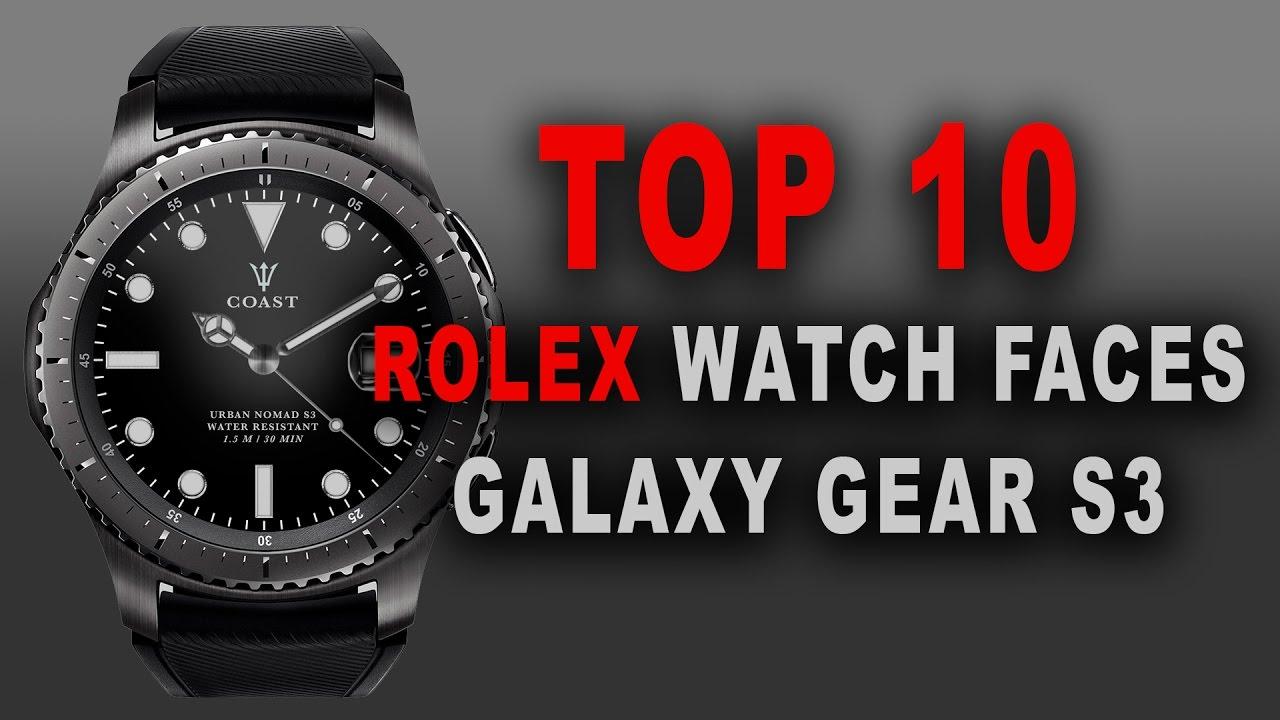 Gear S3 Omega Gwd >> Rolex Custom Faces TOP 10 (Samsung Gear S3) - YouTube
