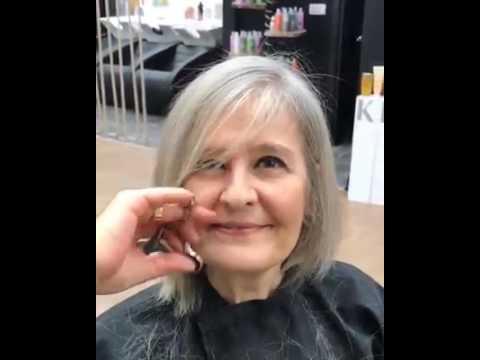 Alte Frau Färbt Sich Die Haare Von Grau Auf Blond Youtube
