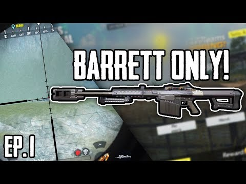 Barrett only Challenge! Ep.1 | Rules Of Survival