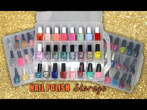 My UPDATED Nail Polish Storage - MAKARTT HOLDERS || Lucykiins