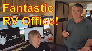Fulltime Rv: You Must See This Mobile Office In A Motorhome