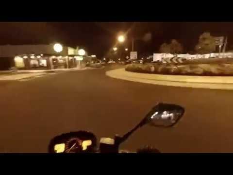 Night ride through Bundaberg