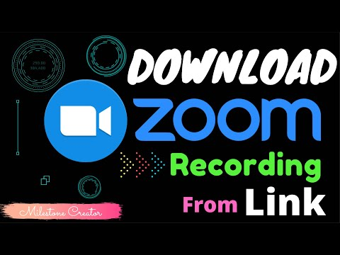 How To Download ZOOM Recording From Shared Link (Works In 2020!!)