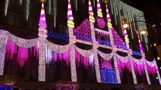 Christmas Light Show @ Saks Fifth Avenue, NYC 2016