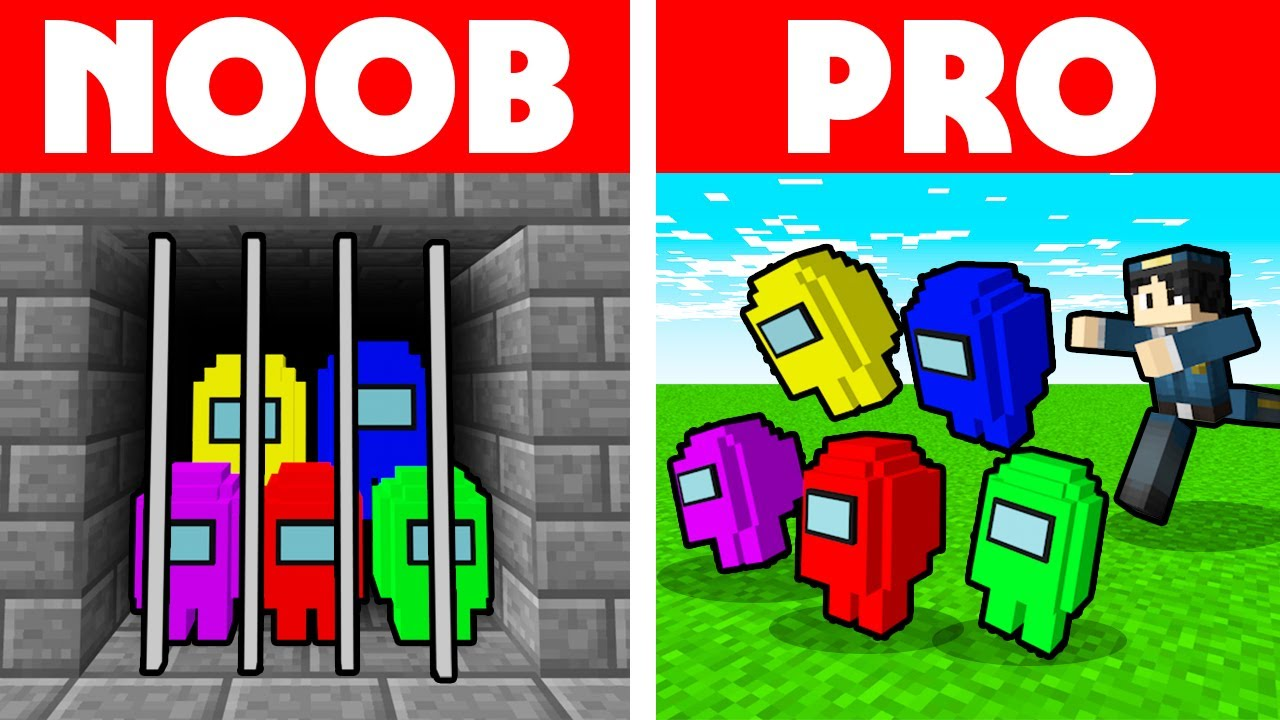 Among Us Vs Minecraft - NOOB VS PRO: PRISON ESCAPE CHALLENGE ANIMATION!