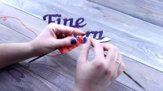 Видеоурок вязания от Fineyarn #6 Узор спицами