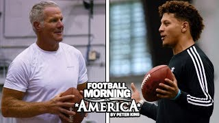 Patrick Mahomes And Brett Favre Have A Catch | NFL | NBC Sports