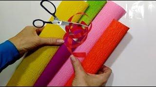 3 ИДЕИ БЕСПОДОБНЫХ поделок из КРЕПИРОВАННОЙ БУМАГИ своими руками.сувениры из цветов.декор дома DIY