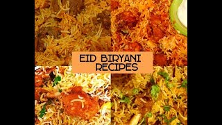 4 Eid Biryani Recipes - Ramzan Special - Must try - Chicken & Mutton Biryani Recipes