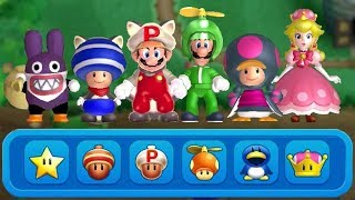 New Super Mario Bros. U Deluxe - All Character Power-Up Suits