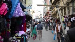 Ride in a cycle rickshaw in Kathmandu, Nepal