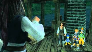 Kingdom Hearts II, English cutscene: 224 - The Legendary Pirate Jack Sparrow - HD 720p