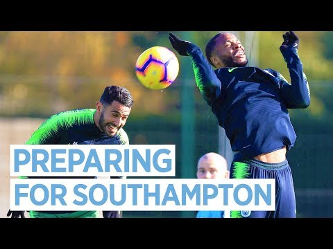 CLOSE UP WITH MAN CITY | TRAINING PRE SOUTHAMPTON