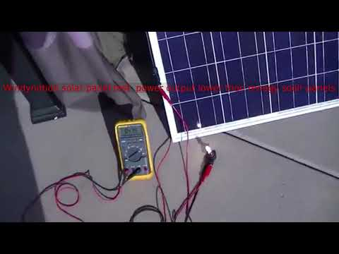 Windynation solar panel test  power output lower than renogy solar panels