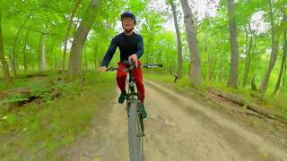 13 Minutes of Beautiful Bike Trail Insta360 POV Footage