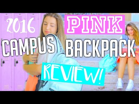 NEW VS PINK Campus Backpack Unboxing + Review 2016!! || Makeupgirl21