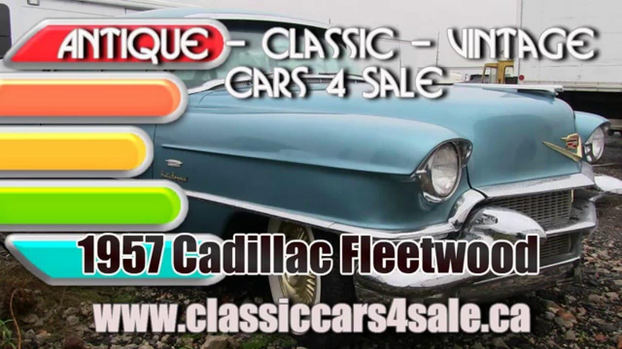 Cadillac, 1957 Cadillac Fleetwood For Sale Toronto Ontario - YouTube