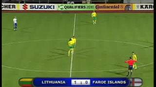 Lithuania - Faroe islands 1:0 Highlights 2008 10 15