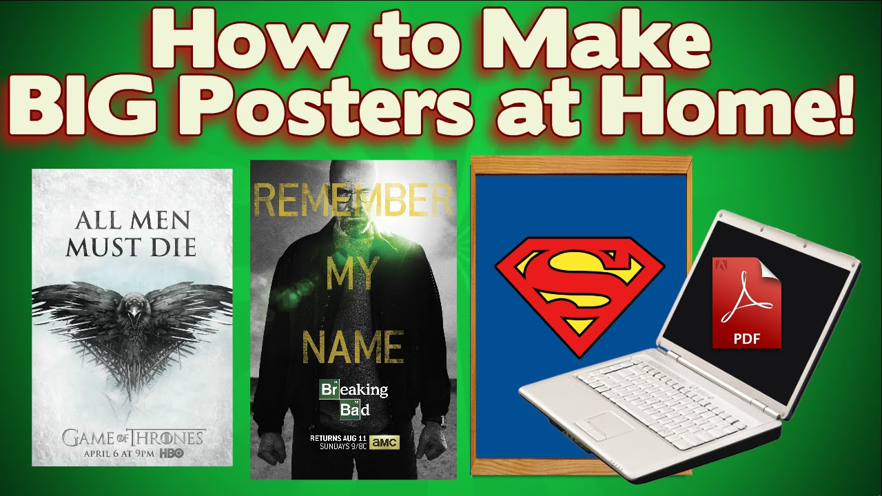 How to Print Large Posters with ANY PRINTER! *Super Easy!* - YouTube