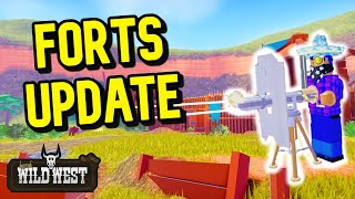 Forts & Gatling Gun Update Review - The Wild West (Roblox)