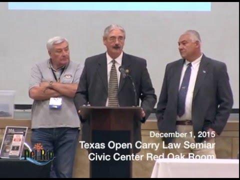 Texas Open Carry Law Seminar 12-01-2015