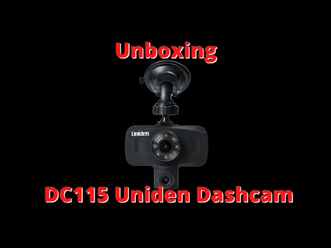 Unboxing Uniden DC 115 Dashcam.