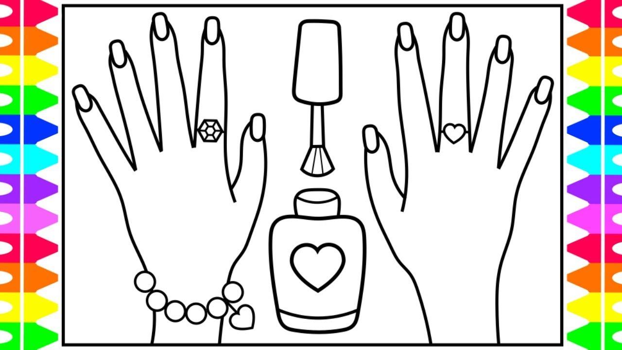 how to draw nail polish for kids 💜💚💖💅 nail polish drawing