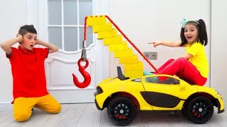 Toy Tow Truck Car towing Power Wheels