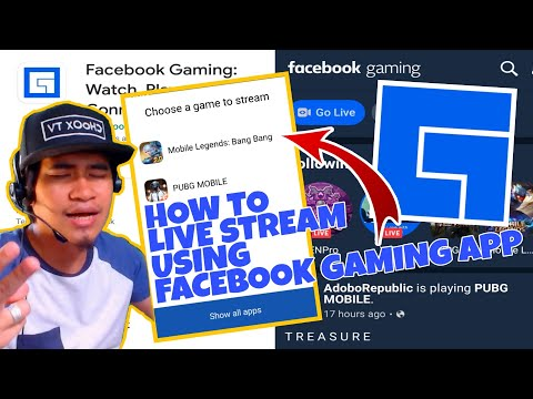 HOW TO LIVE STREAM USING FACEBOOK GAMING APP IN MOBILE PHONE