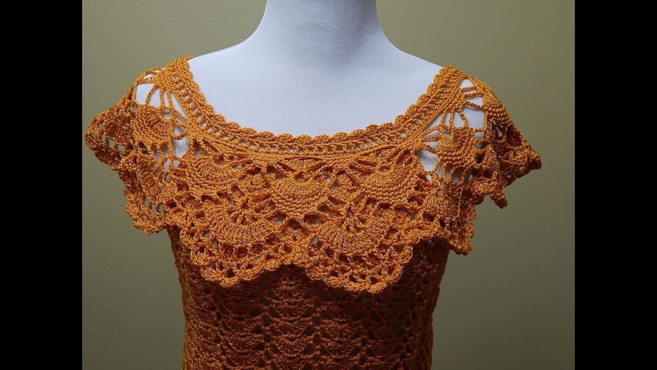 Blusa Crochet para Verano parte 2 de 2 - YouTube