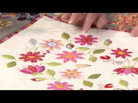 Simple stitched fused applique with Valerie Nesbitt taster video