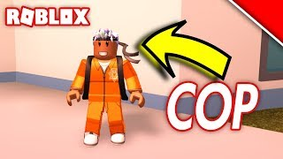 DRESSING UP AS A PRISONER IN ROBLOX JAILBREAK!