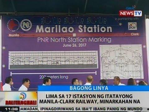 BT: 5 sa 17 istasyon ng itatayong Manila-Clark Railway, minarkahan na