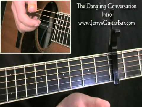 How To Play Simon & Garfunkel The Dangling Conversation (intro only)