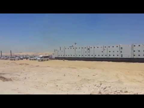 See the first floating hotel for workers new Suez Canal Sector East
