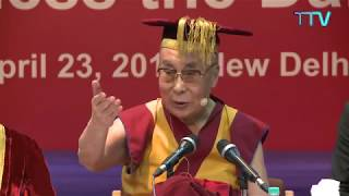 His Holiness The Dalai Lama talk ta the convocation ceremony of LBSIM