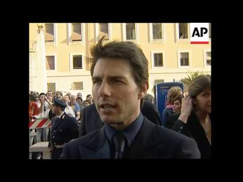 Tom Cruise and Katie Holmes in Rome