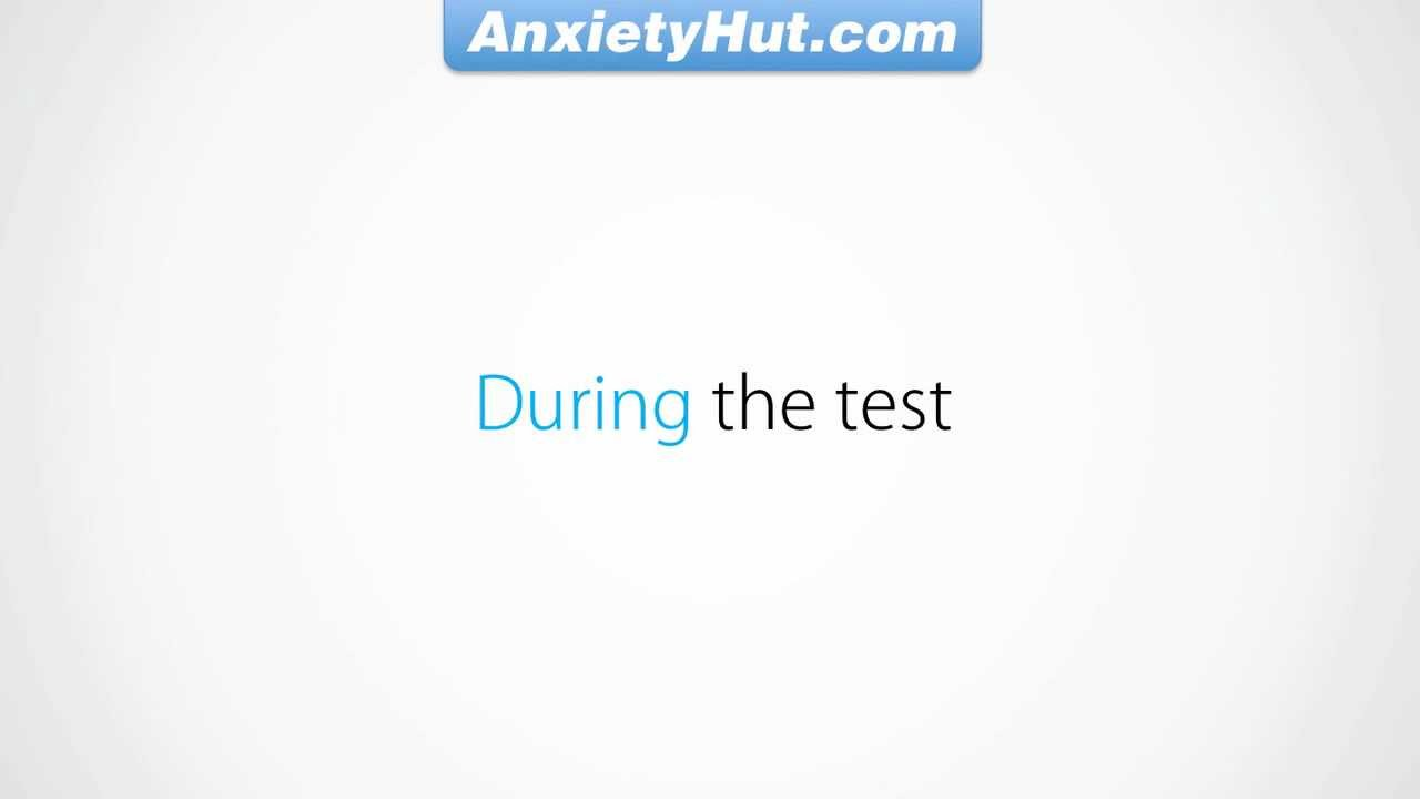 how to cure test anxiety fast