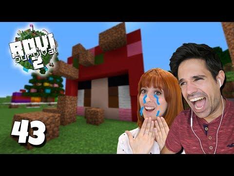 ¡¡ LILI NOS VISITA Y LO PASA MAL !! | Rovi Survival Minecraft 2 | Episodio 43