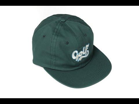 GOLF CURSIVE HAT GREEN - YouTube 02b246da457